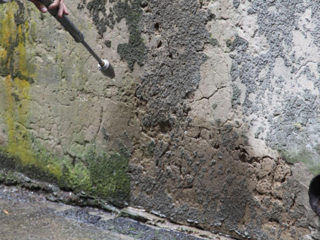 Стена до гидроизоляции